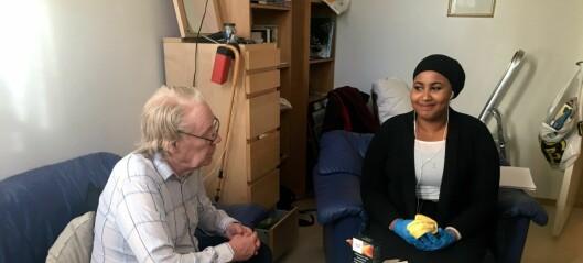 Engasjerte ungdommer på Tøyen hjelper eldre mennesker med praktiske gjøremål