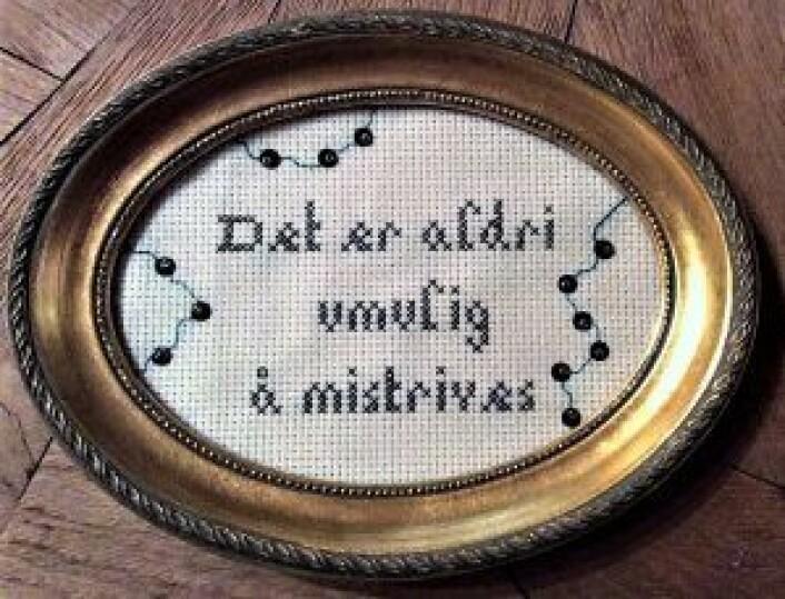 Det er aldri umulig å mistrives, av Rigmor Lindberg. Foto: Rigmor Lindberg