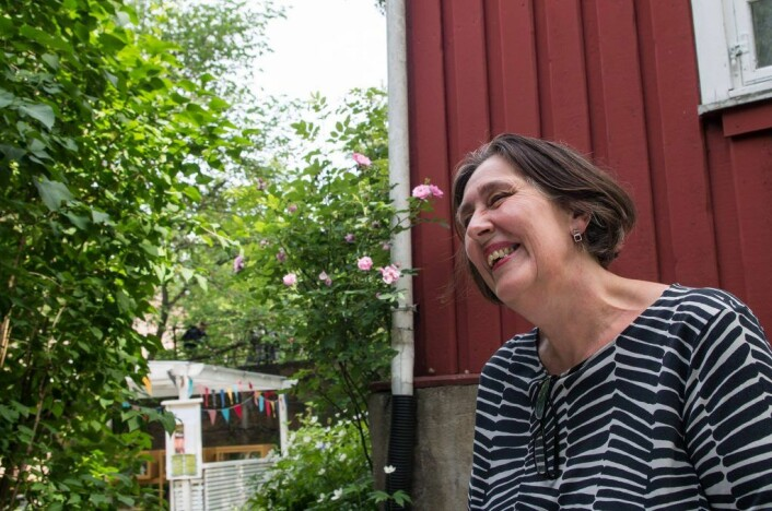 Akerselva er en konstant inspirasjon for meg, sier manusforfatter Anne-Mette Hegdahl. Foto: Kyrre Songstad Seim