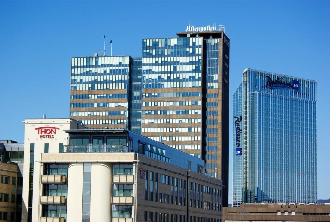 Postgiorbygget og Oslo Plaza Hotel. Foto: Wikimedia Commons