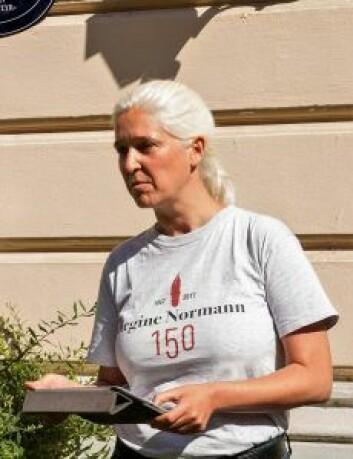 Dörte Giebel ble svært engasjert i livshistorien til Regine Normann. Foto: Kristijan Velkovski