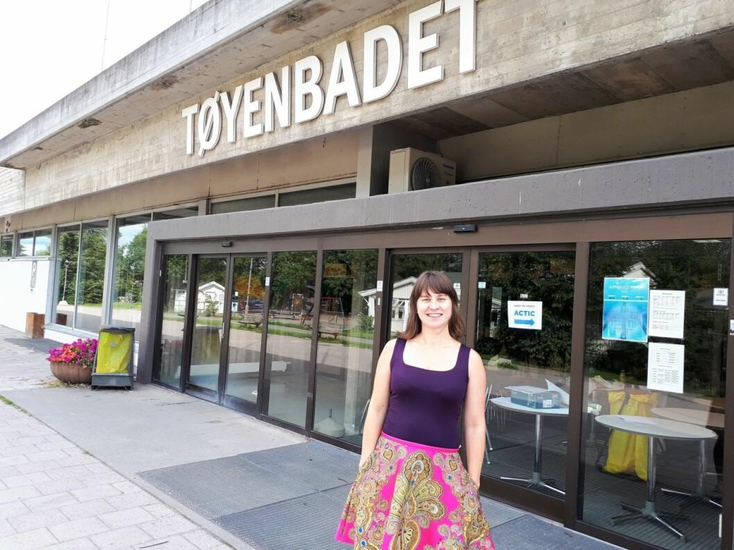 Byråd for kultur, idrett og frivillighet, Rina Mariann Hansen, vuderer å slå sammen Tøyenbadet med en flerbrukshall. Foto: Christian Boger
