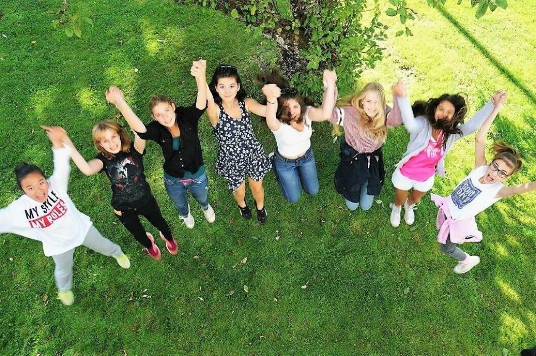 Her er en av Sisterhood-jentegruppene med base i Bydel Frogner. Foto: Sisterhood