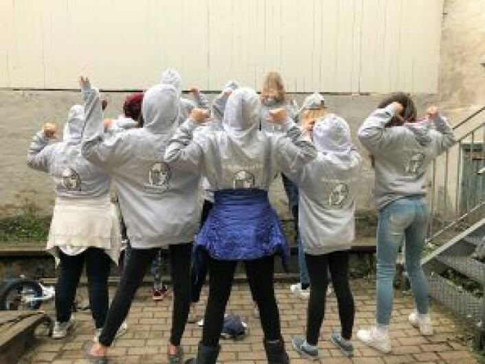 Dagens jentegruppe i Bydel Frogner. Foto: Sisterhood Frogner
