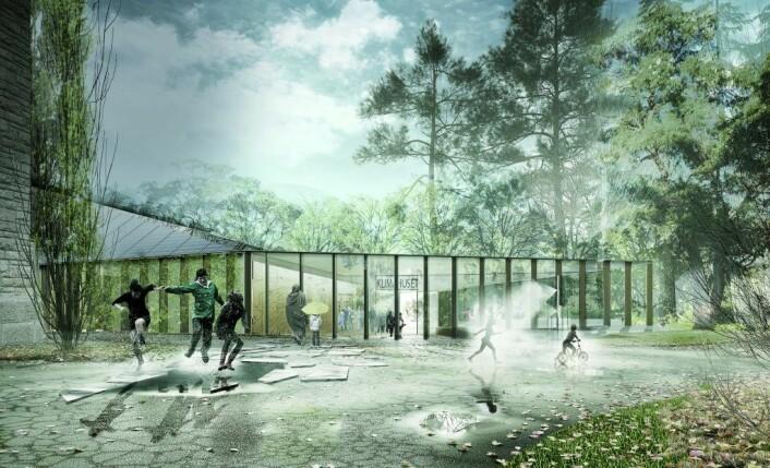 Bak utformingen av det nye Klimahuset står teamet Lund Hagem, Atelier Oslo og Expology.