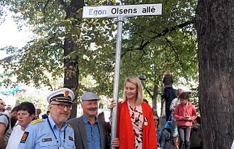 Nå kan du endelig vandre ned Egon Olsens allé