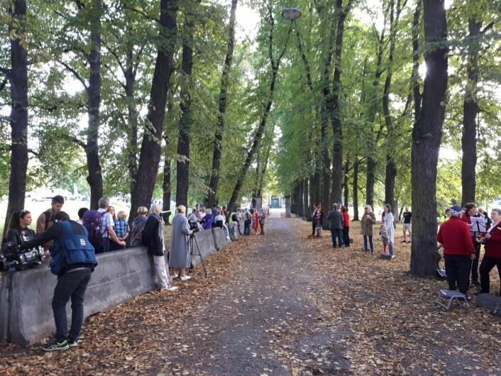 Aleen utenfor det gamle botsfengselet har fått navn etter Olsenbandenfilmenes Egon Olsen. Foto: Christian Boger