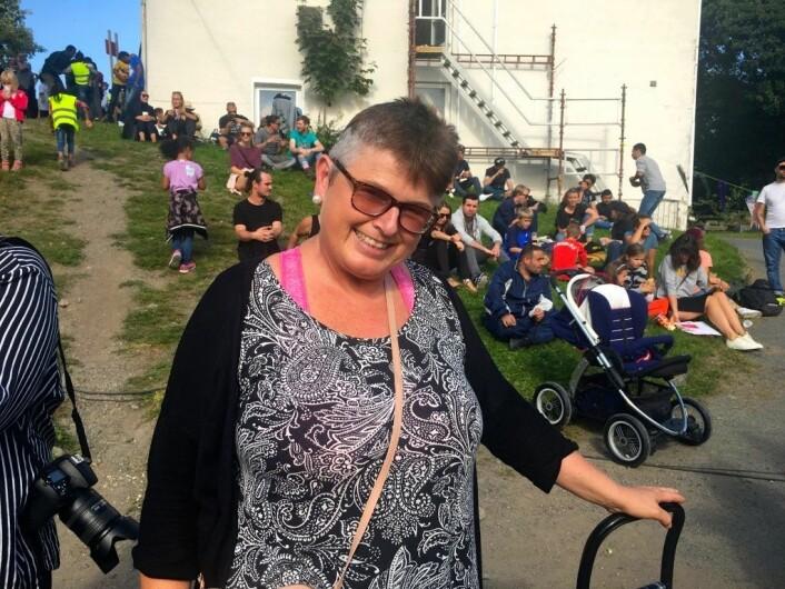 Norunn Farstad er på nabolagsfestivalen på Torshov for første gang. Foto: Live Drønen