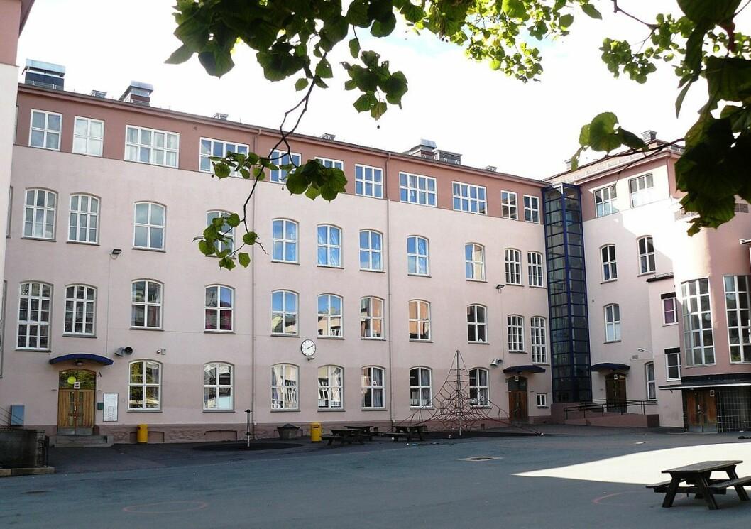 Bydelsutvalget i bydel Frogner gikk onsdag kveld inn for å gå inn for riving av Ruseløkka skole. Foto: Wikipedia