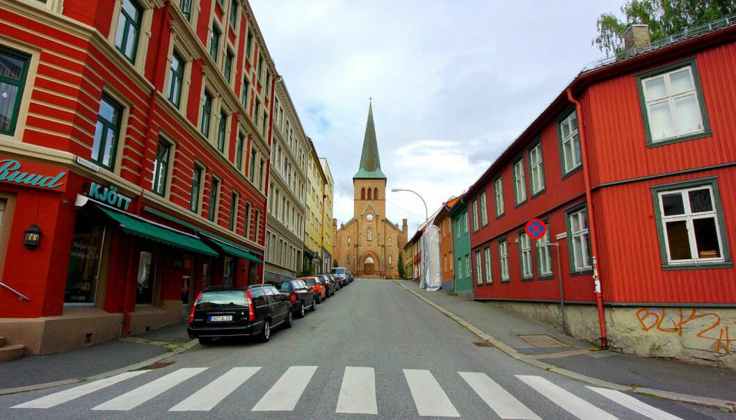 Kampen kirke fra Nannestadgata.