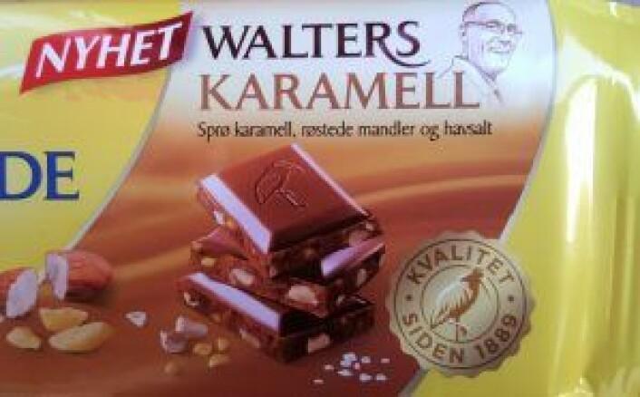 Walter Huber har ansiktet sitt både på Walters Karamell og Walters Mandler, og opplever å bli gjenkjent av og til. Foto: Tarjei Kidd Olsen