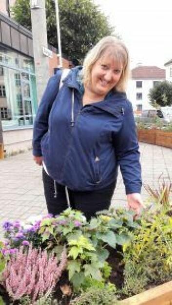 Helene Gallis i Nabolagshager er en sentral person i planlegging og gjennomføring av prosjektet på Sandaker. Foto: Anders Høilund