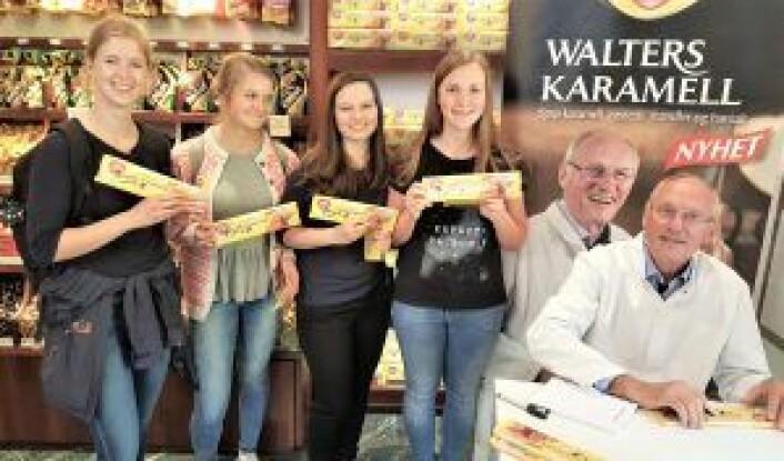 Irene Bokn Haugland, Marit Holter, Sofie Garnes og Mari Morland ville alle oppleve Walter og sjokoladen hans. Foto: Tarjei Kidd Olsen