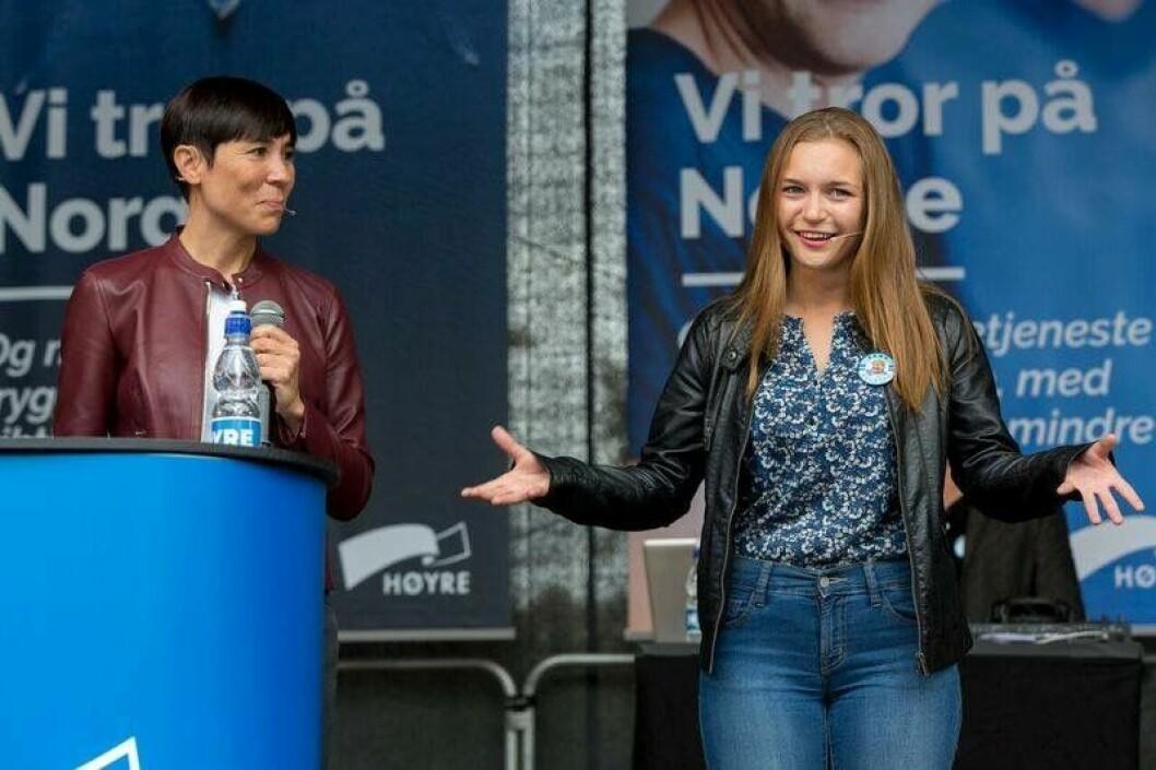 Mathilde Tybring-Gjedde i front. Foto: Høyre
