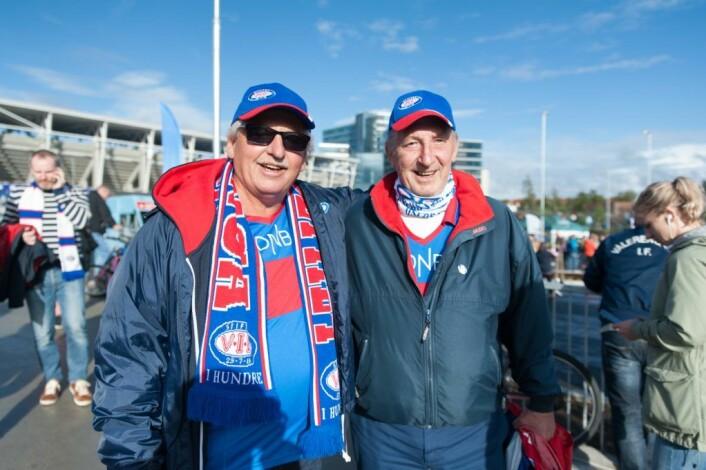 Terje Kristoffersen og Jan Erik Foss gleder seg over den nye hjemmebanen. Foto: Anna Carlsson