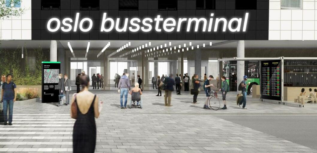 Slik skal Oslo bussterminal se ut når oppgraderingen er ferdig. Foto: Tegn_3