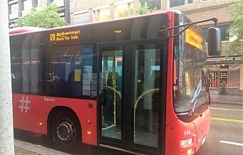 Da Kristin skulle ta buss for trikk, kjørte bussjåføren fra henne