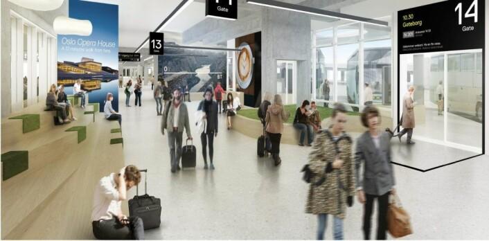 Oslo bussterminal skal bli større og få ny hovedinngang. Foto: Tegn_3
