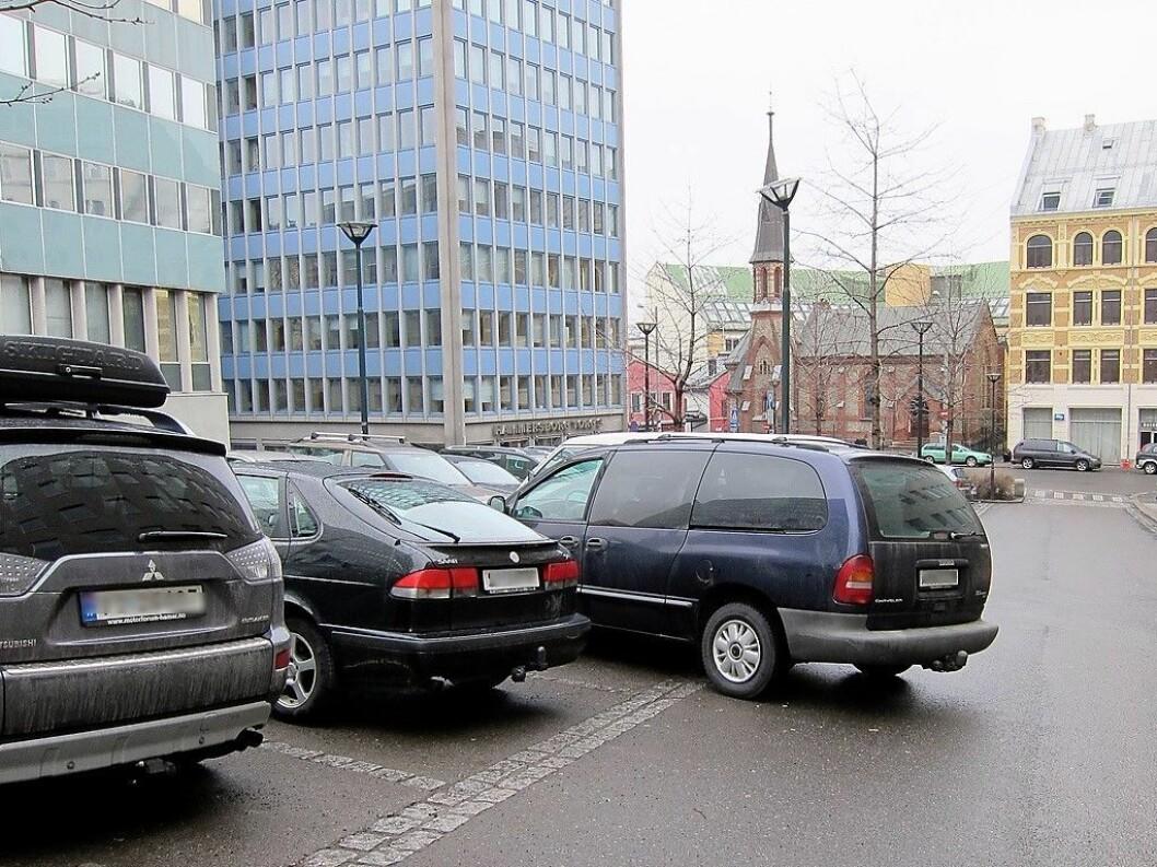 Gateparkering på Hammersborg torg. Foto: Erik Aspden Schyberg / Flickr