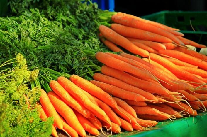 Gulrøtter er på topp når det kommer til økologiske grønnsaker. Foto: Pixabay
