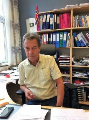Rektor Terje Andersens kontor er flittig besøkt. Foto: Vegard Velle