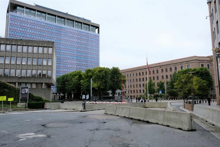 Plan- og bygningsetaten ønsker at sikringstiltakene rundt det nye regjeringskvartalet skal bli så lite synlige som mulig. Foto: Christian Boger