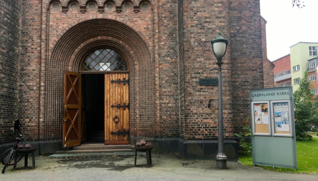 Grønland kirke. Foto: Live Drønen / VårtOslo