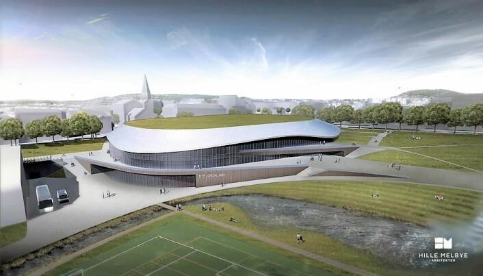 Slik skal nye Jordal amfi se ut. Foto: Hille Melbye Arkitekter/ Kultur- og idrettsbygg Oslo KF