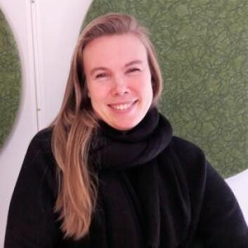Forsker Therese Fosholt Moe ved Norsk Institutt for Vannforskning har undersøkt Teglverksdammen og Hovinbekken. Foto: Anders Høilund