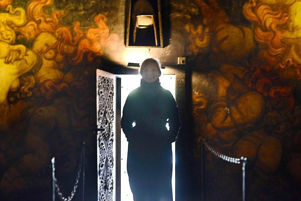 Artist Live Sollid Schulerud i Vigelands mausoleum. Foto: Christian Vassdal