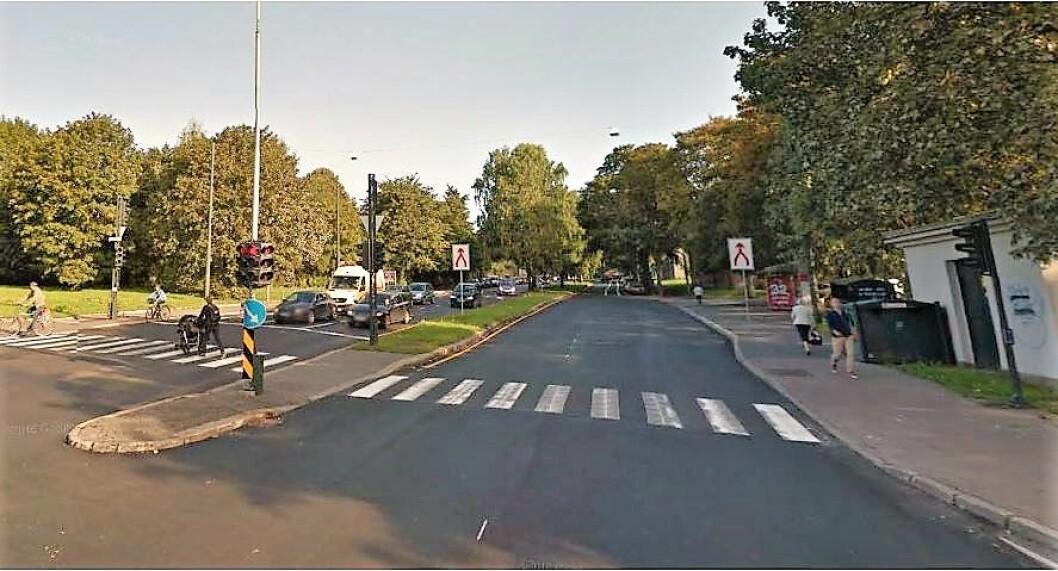 I Uelands gate er det foreslått bom fra 2019. Foto: Statens vegvesen