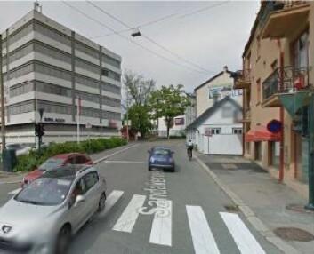 I Sandakerveien er det foreslått å legge en bomstasjon. Foto: Statens vegvesen
