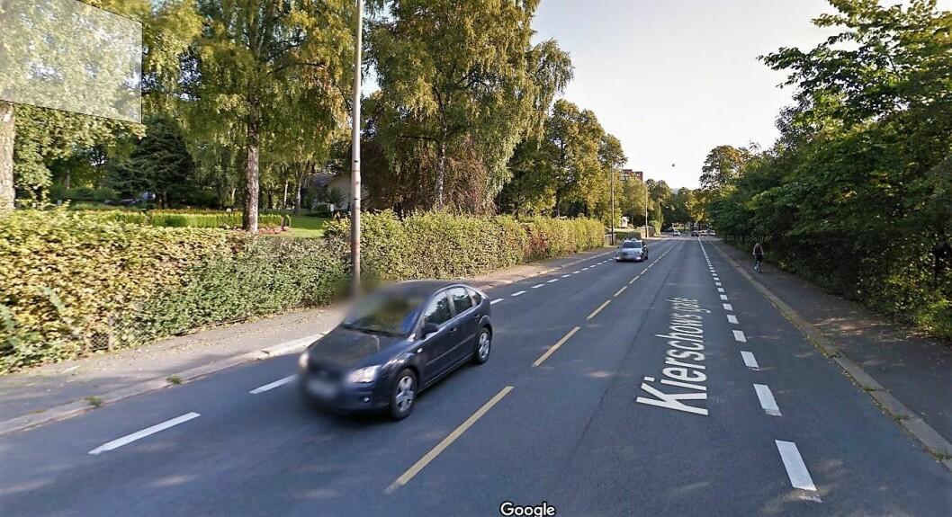 I Kierschows gate, rett ved Geitmyra skolehager, er det foreslått en bomstasjon. Foto: Google maps