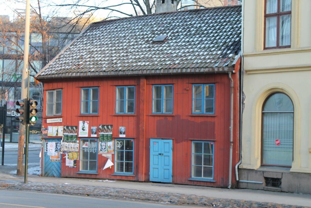 Det lille røde huset i Grønlandsleiret 28. Foto:  Chris Nyborg
