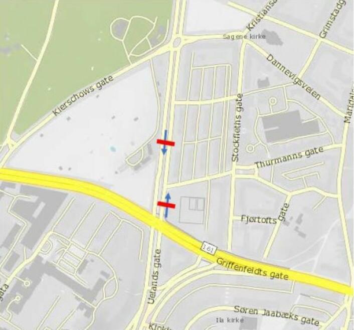 Foreslått bomstasjon i Uelandsgate: Statens vegvesen