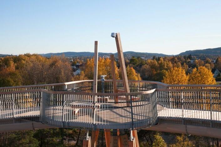 Utsiktspunkt på Stovnertårnet. Foto: Roy Tjomsland