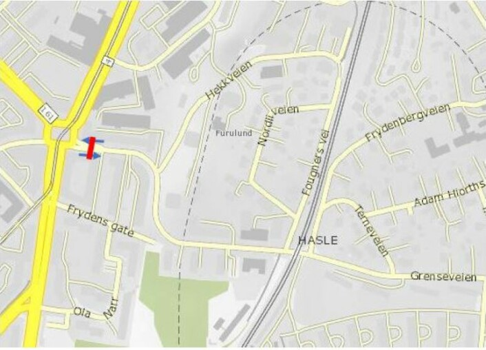 Foreslått bomstasjon i Grenseveien, ved Carl Berners plass. Illustrasjon: Statens vegvesen