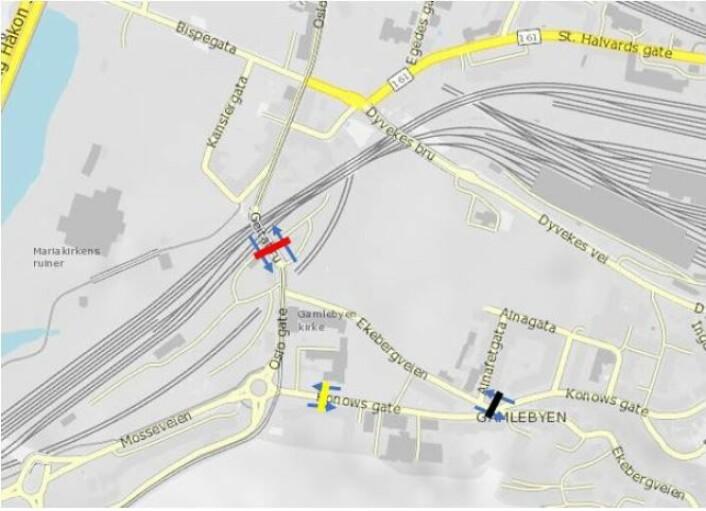 Foreslått bomstasjon på Geitabru. Illustrasjon: Statens vegvesen