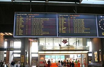 – All togtrafikken kan ikke fortsette å gå gjennom Oslo S. Det er visjonsløst