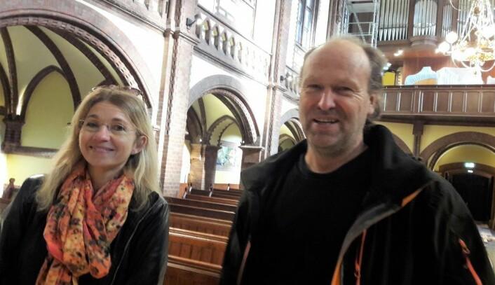 Daglig leder i Paulus og Sofienberg menighet, Eleni Maria Stene og prosjektleder Morten Haugan i Paulus kirke. Foto: Anders Høilund