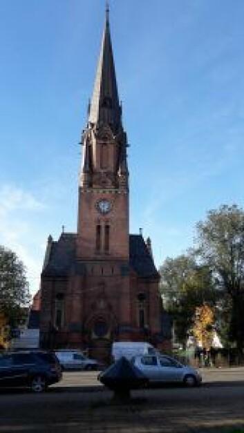 Paulus kirke ved Birkelunden gjenåpner 26. november etter nesten fire år med oppussing ute og inne. Foto: Anders Høilund