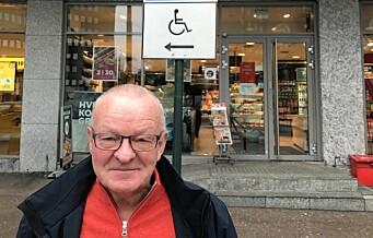 — Jeg merker til stadighet at handikap-parkeringer i sentrum enten er fjernet eller midlertidig stengt