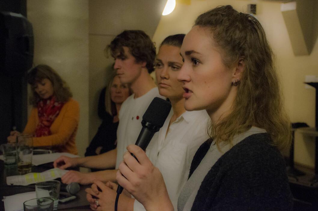 – Vi arrangerer protestfest for å mobilisere mot kuttene til Jussbuss, sier Tonje Lilaas Larsen, leder på Jussbuss. Foto: Morten Lauveng Jørgensen
