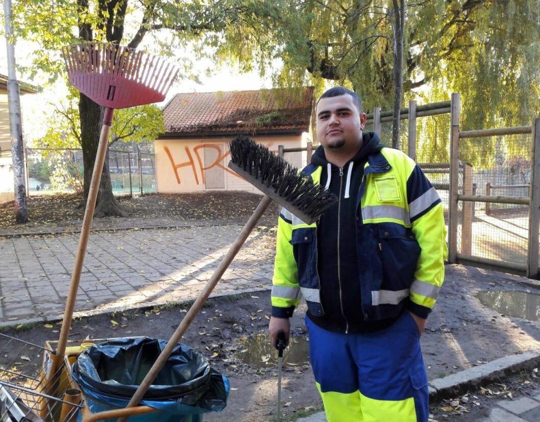 Hussein Ates ble bedt om å søke for å få plass i Ungdomsjobb-prosjektet. Foto: Anders Høilund
