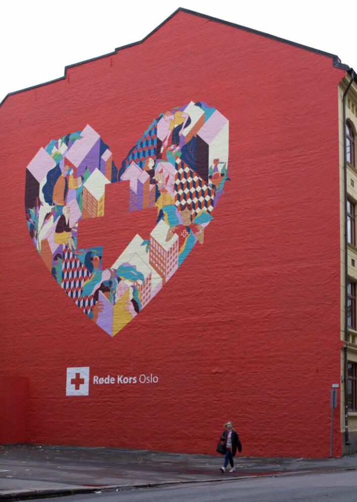 Røde Kors-veggen. Foto: Merethe Ruud