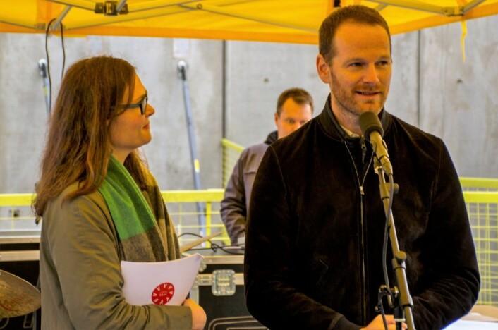 Filmregissør Joachim Trier gleder seg til åpningen av Vega Scene. Foto: Morten Lauveng Jørgensen