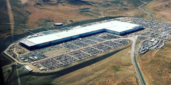 Tesla Gigafactory 1 ligger i Nevada og er gigantisk. Foto: Electrek