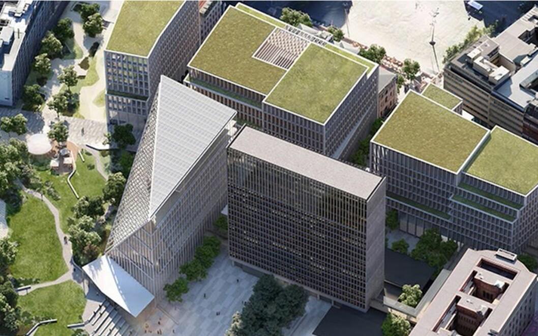 Vinneren av arkitektkonkurransen for regjeringskvartalet, Adapt. Illustrasjon: Team Urbis
