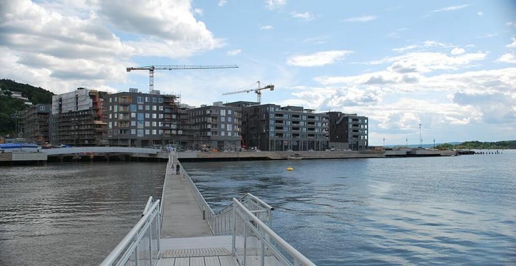 Brua mellom Sukkerbiten og Sørenga kan forsvinne etter nyttår. Foto: Helge Høifødt, via Wikimedia Commons