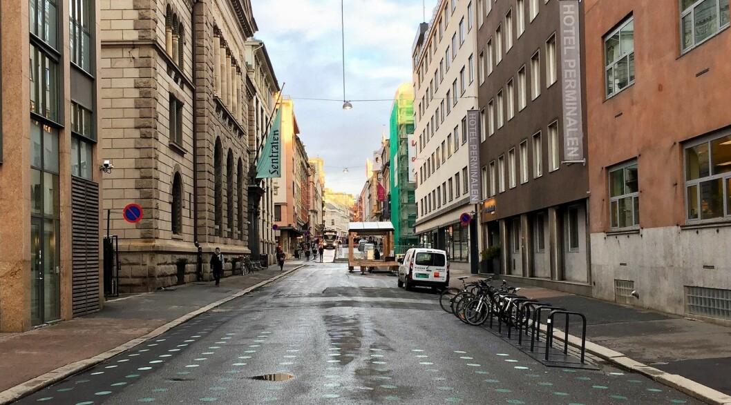 Ina von Turow mener vi ikke trenger å velge mellom en grønn by og gode, lokale butikker. Foto: Øystein Aurlien